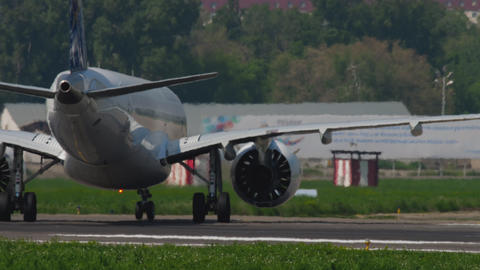 Air Astana Embraer taxiing GIF