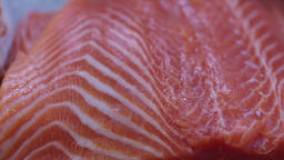 Fresh Raw red fish in a counter of market GIF