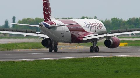 Fly Arystan Airbus 320 braking GIF