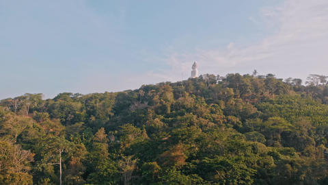 Big Buddha at the top of the mountain Live Action