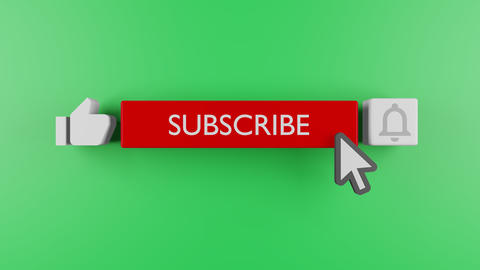 Youtube subscribe and bell icon motion graphic animation template clip. Subscribe Button Youtube Acción en vivo