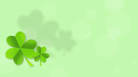 Motion green shamrocks, Saint Patrick Day animation background CG動画