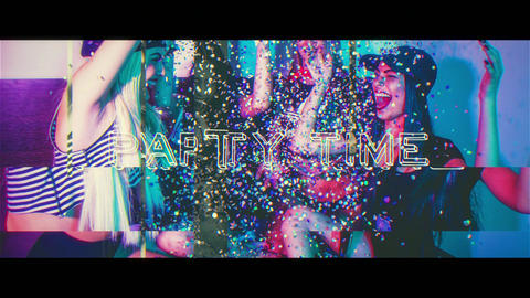 Glitch Party Time After Effects Template