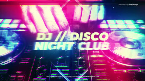 DJ Disco Night Club Intro After Effects Template