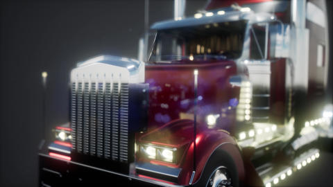 bright american lorry track in studio Live Action