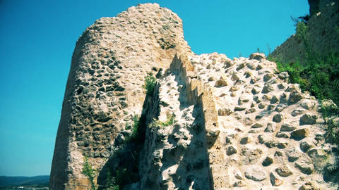 Old and not reconstructed castle wall GIF