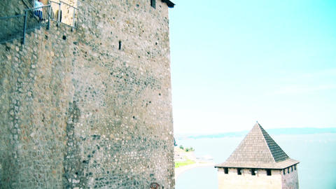 A beautiful view of the tower and the river Danube GIF