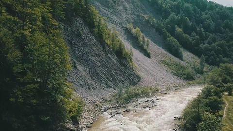 Carpathians, Yaremche mountains, mountain river Live Action