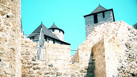 Old reconstructed beautiful castle in Serbia GIF