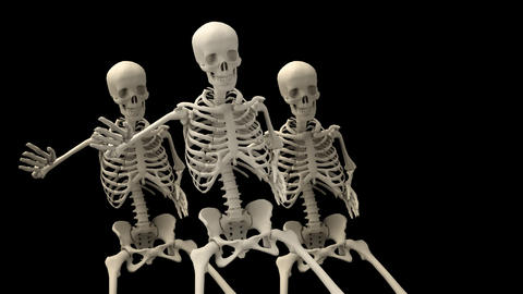 Skeletons In A Group Animation
