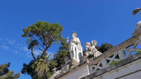 Fontana della Dea di Roma, Zoom. Rome, Italy Footage