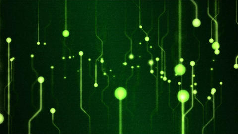 Abstract Technology Circuit Background Animation - Loop Green Animation