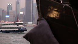 Ferry boat Hong Kong 7 Footage