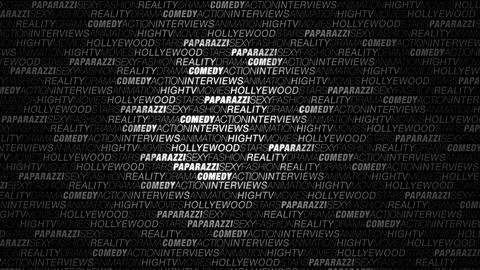 Glamour Paparazzi Words Background with Glow and Lights Footage