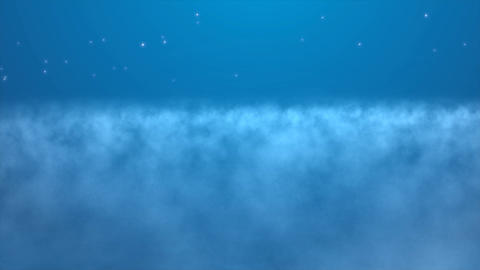 Magical Sky Above the Clouds With Sparkling Stars Footage