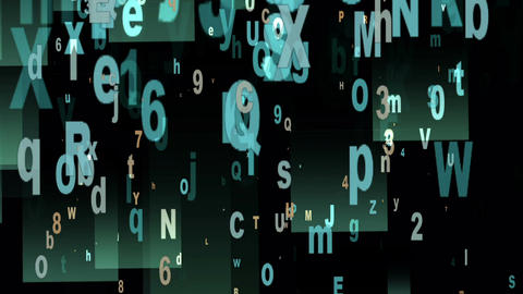 Digital Animation of Letters and Numbers Animation