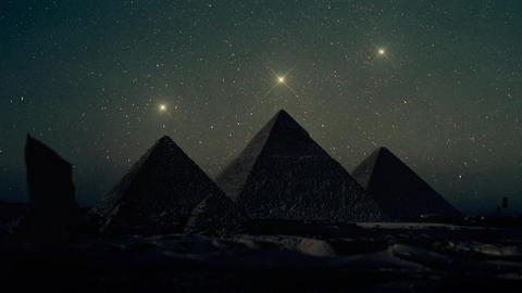 Orion Constellation Stars Aligned Above The Pyramids of Giza Footage