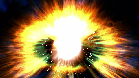 Digital Animation of a cosmic Explosion Animation