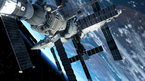 Astronaut Outside The Space Station Animation