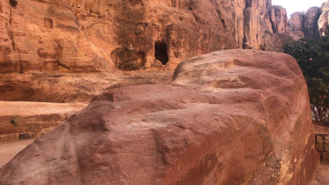 Petra, Jordan - mountain reliefs with structures carved into the rocks part 1 Live Action