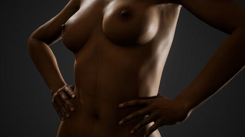 Beautiful naked body of young and sexy woman GIF