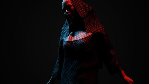 young nun in the dark GIF