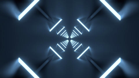 VJ or DJ looping 3D animation background of neon tubes passing the frame ライブ動画