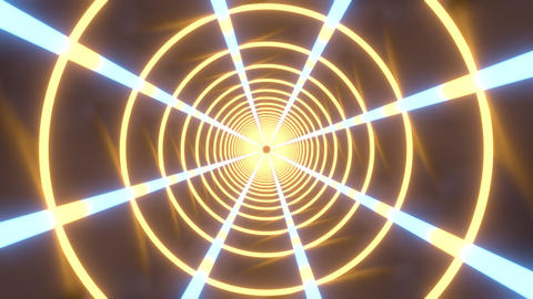 3D abstract animation of rays of neon lights spinning on the screen ライブ動画
