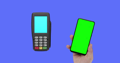 Contactless payment for paying by smartphone with nfc technology Live Action