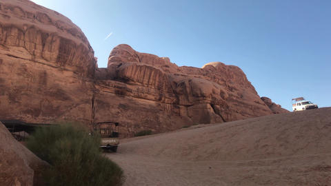 Wadi Rum, Jordan - pink cliffs and red sand in the desert part 7 Live Action