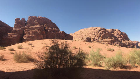 Wadi Rum, Jordan - pink cliffs and red sand in the desert part 19 Live Action