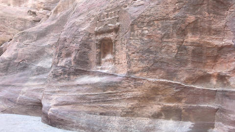 Petra, Jordan - mountain reliefs with structures carved into the rocks part 2 Live Action