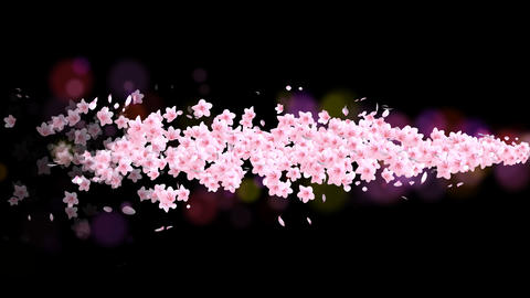 Moving cherry blossoms Animation