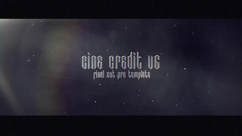 Cine Credit V 6 Apple Motion Template