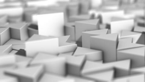 Landscape of Trihedral Pillars White 04-1 Animation