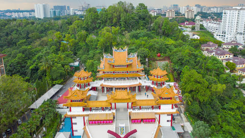Thean Hou Temple in Kuala Lumpur, Malaysia. hyper lapse Thean Hou Temple Live Action