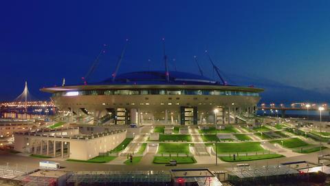 Gazprom arena stadium in St. Petersburg Live Action