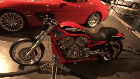 Amman, Jordan - October 20, 2019: Royal Automobile museum classic motorcycles of Live Action
