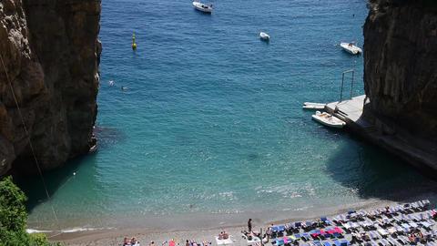 Marina di Praia beach in world famous Amalfi Coast Live Action