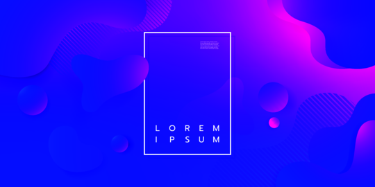 Colorful geometric background design. Fluid shapes composition with trendy Vector