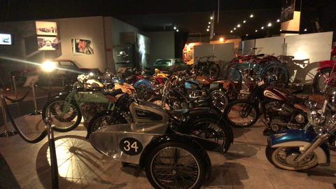Amman, Jordan - October 20, 2019: Royal Automobile museum vintage motorcycle Live Action