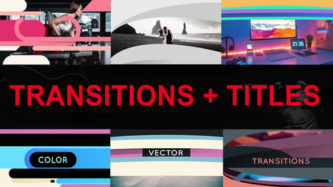 Vector Transitions With Titles Premiere Pro Template