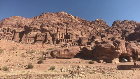 Petra, Jordan - mountain reliefs with structures carved into the rocks part 10 Live Action