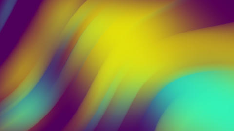 Bright abstract waves, colorful background with trendy flowers. Seamless Live Action