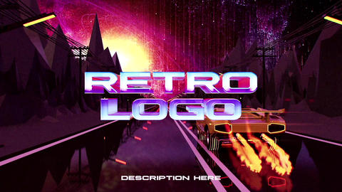 Lamborghini Retro Wave Logo After Effectsテンプレート