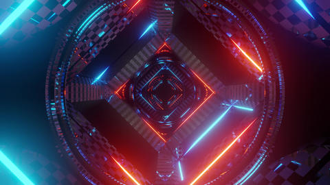 futuristic neon tunnel 3d render animation Videos animados