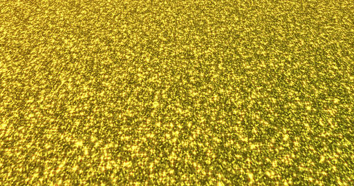 Golden glitter dust background for festival, party, event. Gold glamur texture Animation