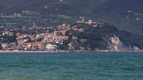 Marche region local landmark of Numana Ancona province in Conero - Italy. Numana Live Action