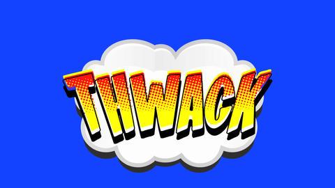Comic Book Speech Bubble Thwack Live Action