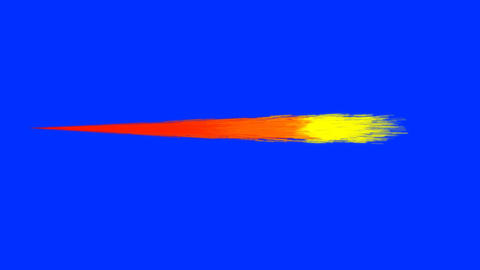 Cartoon Jet Flames on a Blue Screen Background Live Action